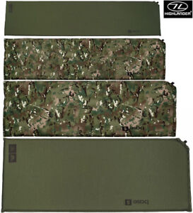 Army Military Self Inflating Sleepng Camping Air Bed Roll Matt Camo Green S - XL