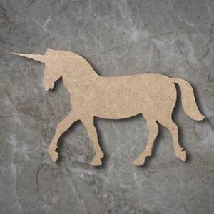 Large MDF Unicorn Standing Craft Wooden Shape Blank Wood 20 30 40cm Unpainted
