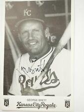GEORGE BRETT autograph Kansas City Royal Fan Card