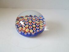 "1x Murano Millefiori Italy Art Glass Large Colorful Paperweight 3.5"" diameter"