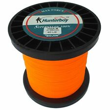 HUNTERBOY OPAQUE ORANGE NYLON FISHING LINE 1000M 40LB SUPER HIGH VISIBILITY MONO