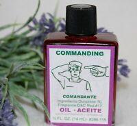 Commanding Oil (1) 4DRMs,  Power, Commanding Santeria, Hoodoo, Wicca