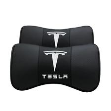 2Pc Beige Echtes Leder Autositz Nackenkissen Auto-Kopfstütze Sitz für Jaguar