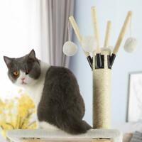 "Cat Tree Furniture Kitten House Play Tower Scratcher 56"" Beige Condo Post Bed"