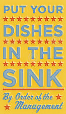 Put Your Dishes in the Sink John W. Golden Art Print Poster Kitchen Decor 12x20
