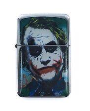 Lighter Joker Batman Design Silver Refillable Windproof Oil Petrol Smoking