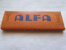 CIGARETTE ROLY PAPERS ALFA BELGIUM 50 LEAVES c1960s MINT UNUSED