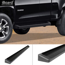 iBoard Running Boards 6in Black Fit 15-20 Chevy Colorado GMC Canyon Extended Cab