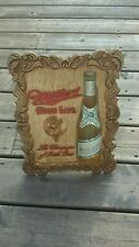 Vintage 1952 Miller High Life Beer Sign - Girl On The Moon 3-D - Milwaukee, Wi