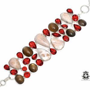Umba Sapphire Garnet Scolecite Bracelet B3587