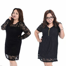 Unbranded Plus Size Lace Short Sleeve Dresses for Women