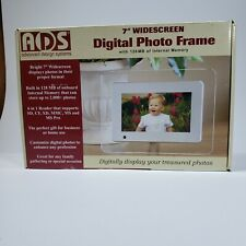 """ADVANCE DESIGN SYSTEMS 7"""" Widescreen Digital Photo Frame 2000 128Mb Memory"""