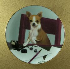 Chihuahuas Footnotes Plate John Silver Danbury Mint Pen & Ink Pawprints Charming