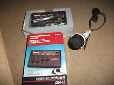 NEW  OLD STOCK GERMAN  BOXED  HAMA  VSM-512  VIDEO-SOUNDMIXER AND MICROPHONE