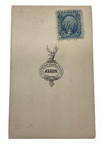 Geo. Washington 2 cent Proprietary US Inter. Rev. Blue Postage Stamp Photo Woman