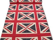 UNION JACK FLAG RETRO HEAVY LINEN LOOK UPHOLSTERY COTTON CUSHION PANEL FABRIC