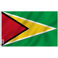 Anley Fly Breeze 3x5 Foot  00006000 Guyana Flag The Golden Arrowhead -Double Stitched