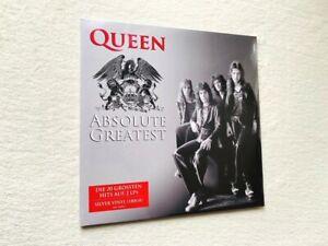 QUEEN  absolute greatest hits 2x LP import ltd SILVER Freddie Mercury Pink Floyd