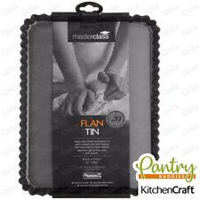 KitchenCraft MasterClass Non-Stick Loose Base Fluted Rectangular Flan / Quiche
