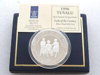 1996 Tuvalu Lady of Century $20 Twenty Dollar .999 Silver Proof 5oz Coin Box Coa