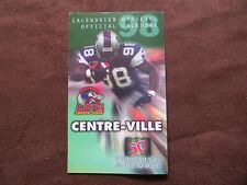 1998 Montreal Alouettes Football CFL Schedule Unmarked