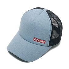 Unisex para Hombre Brooklyn aireado Malla Gorra De Béisbol Gorra Trucker  sombreros Celeste 34c60bb5980