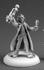 Mad Scientist Reaper Miniatures Savage Worlds Steampunk Western Caster Melee