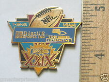 Super Bowl XX1X Media Pin ,  Peter David Pin Lapel (#44)