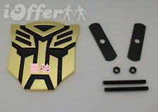 Car Metal Front Grille Emblem Transformers Autobot Chrome Gold Black