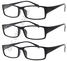 3 Pairs NERD Smart Black FAKE Glasses rectangle fashion eyewear wholesale lot