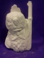 """Kimple Mountain Man 9""""  ready to paint ceramic bisque"""
