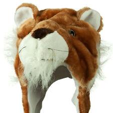 Cute Lion Winter Fluffy Plush Warm Cap Hat Long Arms & Mittens Scarf Gift Beanie