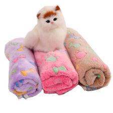 More details for pet dog cat rest blanket puppy kitten fleece cushion soft warm sleeping bed uk