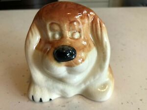 Antique ceramic Lion Money Box faded marks  looks like Doulton by arrangement