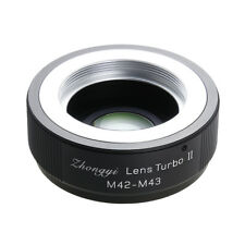 Upgraded version Lens turbo II adapter for M42 lens to Micro 4/3 MFT OM-D GH GX