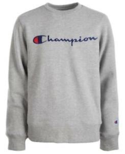 Champion Little Boys Crew Neck Long Sleeve Embroidered Logo Sweatshirt Size 7