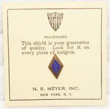 "WWII Sweetheart Navy ""USN"" Diamond pin - medium blue"