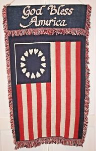 """Decorative """"God Bless America""""  Wall Hanging Tapestry 38"""" X 24"""""""