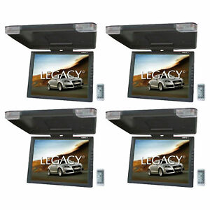 "LEGACY 15"" LCD TFT Car/SUV/TRUCK Flip Down Roof Mount Monitor TV IR (4 Pack)"