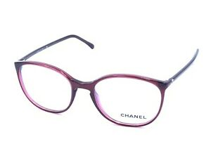 Chanel 3282 539 Round Transparent Red Eyeglasses Frames 52-18 140 NEW Italy