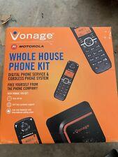 Motorola Vonage VDV23-CVR Cordless 3 Hand Set Whole House Phone Kit