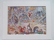 "MOLLY BRETT CHILDRENS NURSERY PRINT c1970 IN 10""x8"" NEW MOUNT READY TO FRAME"