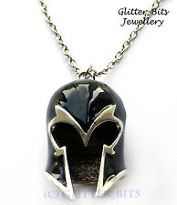 X Men Magneto Mutant Helmet Necklace Pendant Marvel Comic Magnus Silver Mas