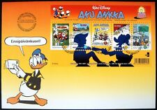 NEW! 2001 FINLAND DONALD DUCK FIRST DAY COVER WALT DISNEY FDC MICKEY MOUSE GOOFY