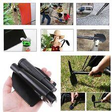 Folding Shovel 16 Camping Garden Military Style Survival w/ Pick kit Case 16