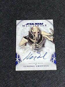 2018 Star Wars Masterwork Matthew Wood as General Grievous Blue Auto Card 46/99