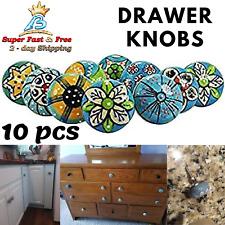 Decorative Ceramic Knobs Drawer Pulls 10 Pcs Lot Cabinet Handle Hardware Vintage