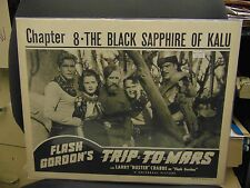 "Buster Crabbe Flash Gordon Trip To Mars 1948 Reissue 11x14"" Lobby Card #L8570"