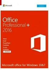 Microsoft Office Professional /Word/Excel/PowerPoint etc..for Windows 7&10