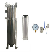 """2"""" NPT 100 Psi Bag Filter Housing Stainless Steel Filtering Tools with Mesh"""